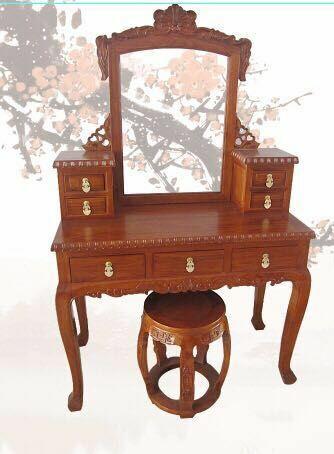 买上等梳妆台,首要选择玉堂春古典家具 澳门古典双人床