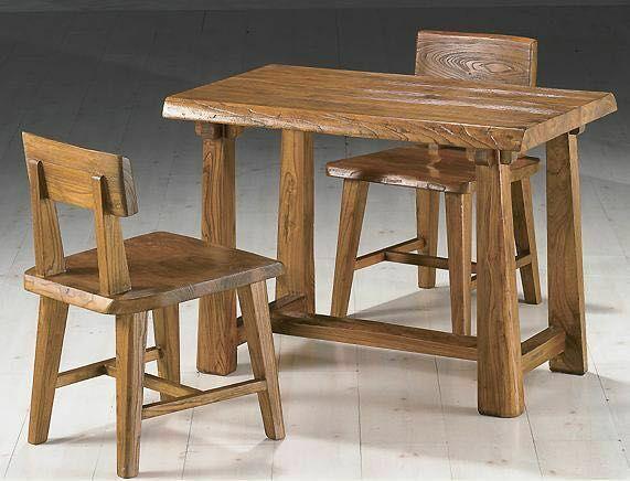 韩式老榆木小桌椅