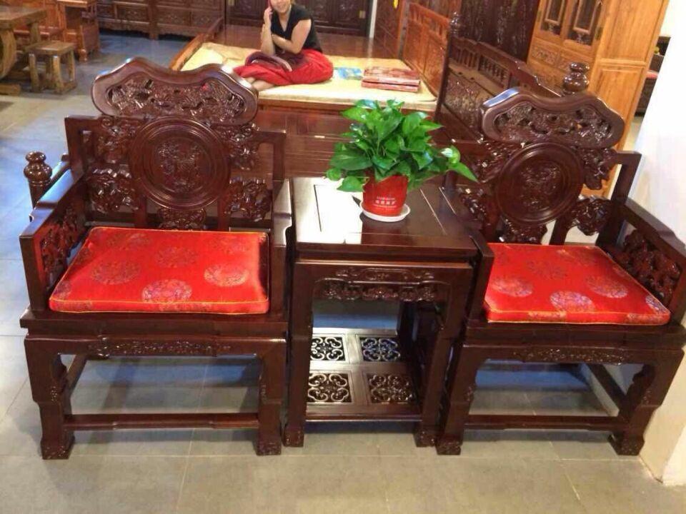 德州质量一流的灵芝椅,就在玉堂春古典家具:重庆古典双人床