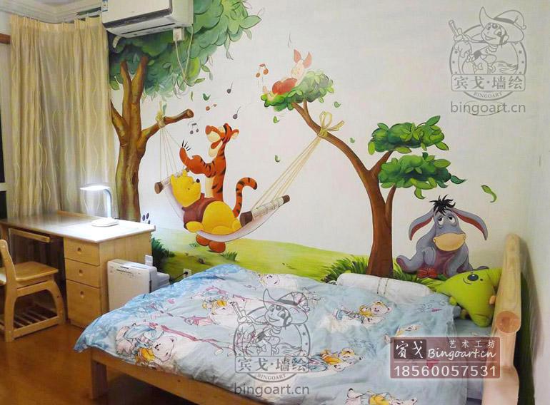 墙绘卧室可爱图片大全