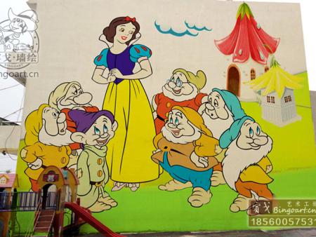 幼儿园手绘墙】宾戈打造】济南幼儿园手绘墙,价格优惠