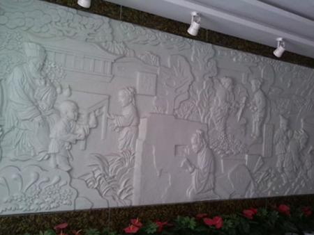 兰州校园浮雕墙|透雕墙|景观墙