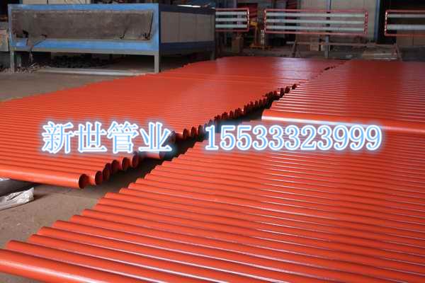 河北邯郸柔性铸铁环氧树脂粉末烤漆铸铁管优质直销
