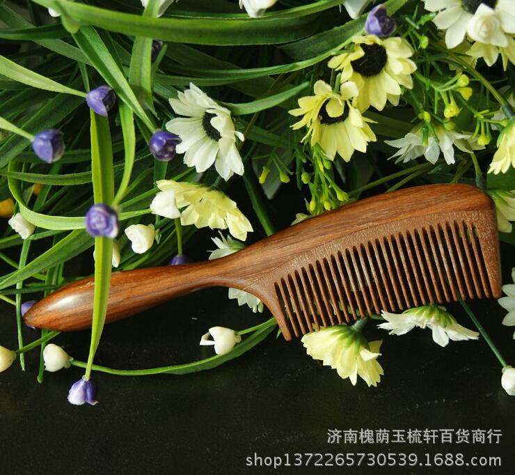正品红檀木梳子