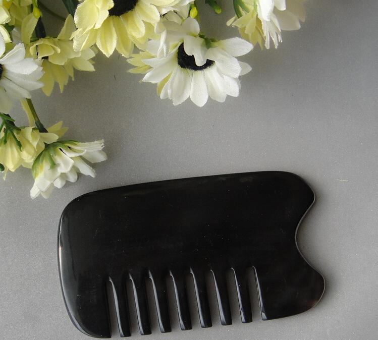 黑水牛角梳型刮痧板
