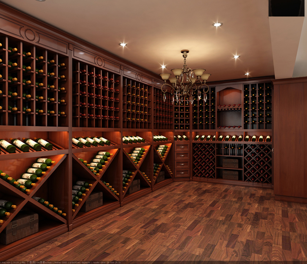 酒窖设计当选欧姆智尚,济南家具定制