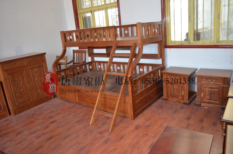 济南楸木双层床-潍坊专业的楸木双层床-认准晶雅木业