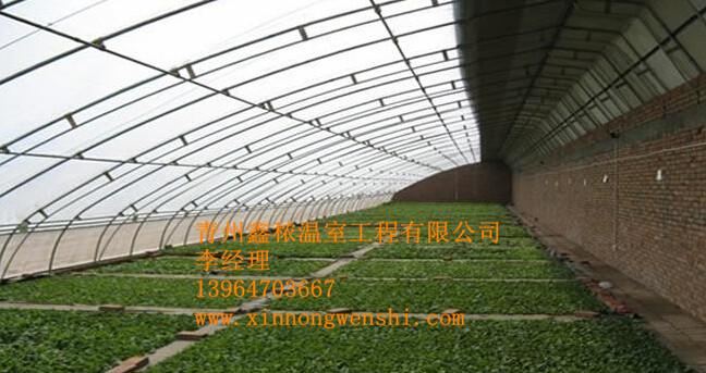 日光温室大棚是采用较简易的设施,充分利用太阳能,在寒冷地区一般不加温进行蔬菜越冬栽培,而生产新鲜蔬菜的栽培设施日光温室具有鲜明的中国特色。是我国独有的设施。日光温室的结构各地不尽相同,分类方法也比较多。按墙体材料分主要有干打垒土温室,砖石结构温室 日光温室大棚,复合结构温室等。按后屋面长度分,有长后坡温室和短后坡温室;按前屋面形式分,有二折式,三折式、拱圆式、微拱式等。按结构分,有竹木结构、钢木结构、钢筋混凝土结构、全钢结构、全钢筋混凝土结构、悬索结构,热镀锌钢管装配结构。 前坡面夜间用保温被覆盖,东、西