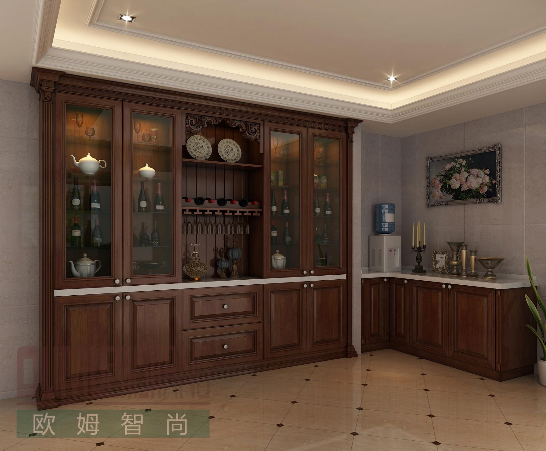 济南质量有保证的酒柜,就在欧姆智尚_济南衣柜