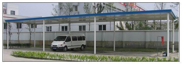 农村彩钢瓦车棚设计图