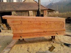 柏木棺材价格:新款柏木棺材在淄博有售