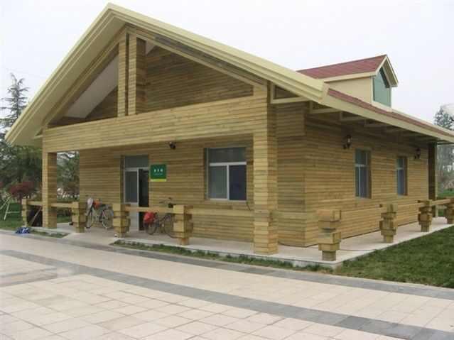 木屋制作 木质别墅