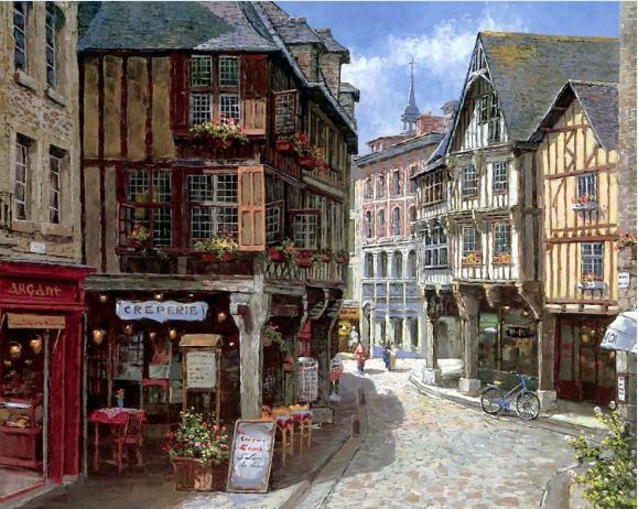 福建欧式街景油画|热销的街景油画厦门筑美家工作室供应