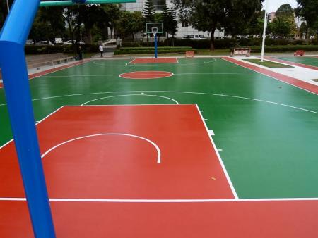 硅PU篮球场工程施工-专业的南宁硅PU塑胶球场工程推荐