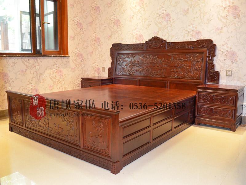 潍坊楸木古典大床|具有良好口碑的楸木古典大床多少钱