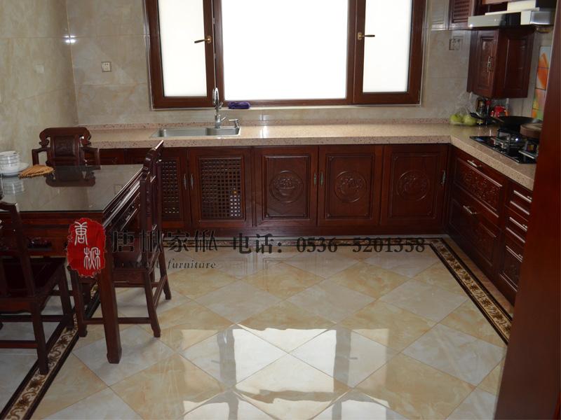 淄博楸木厨房橱柜-力荐晶雅木业品质有保障的楸木厨房橱柜