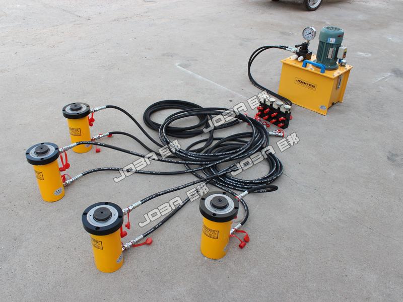 中国电动同步控制千斤顶_选购质量好的PLC同步控制电动液压千斤顶就选巨邦机械