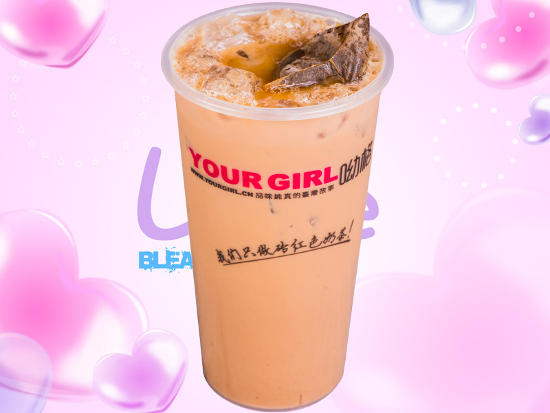 呦格奶茶加盟首�x�_��,�_�尺M口原料,正宗�_式奶茶