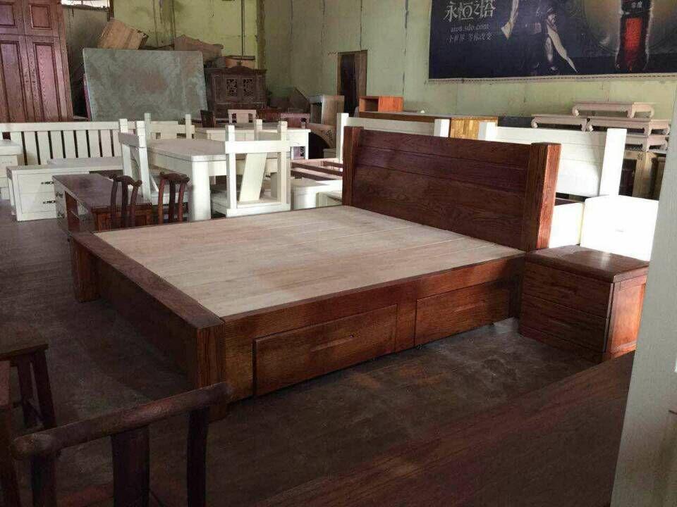 烟台红橡木家具定做 烟台木质床 烟台红橡木沙发加工厂家