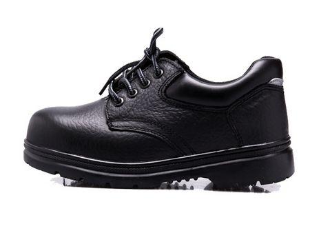 黑色软皮001防砸鞋