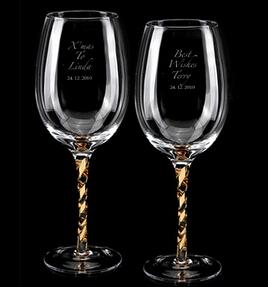 水晶酒杯激光打标刻字加工
