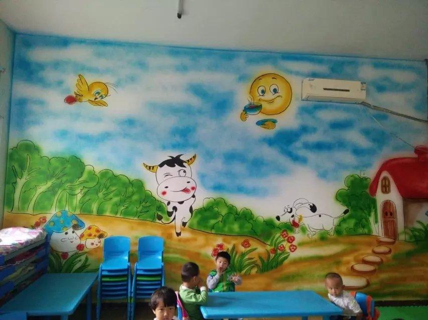 济宁手绘墙公司济宁酒店墙体彩绘幼儿园墙体彩绘壁画