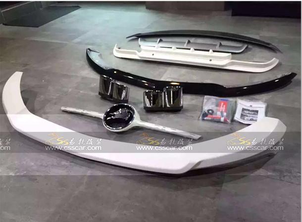 新款奔驰C级改carlsson卡尔臣 小包包围轮毂排气