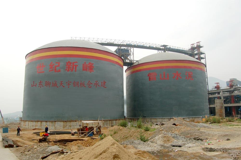 甘肃地区安装水泥库,天宇厂家生产,