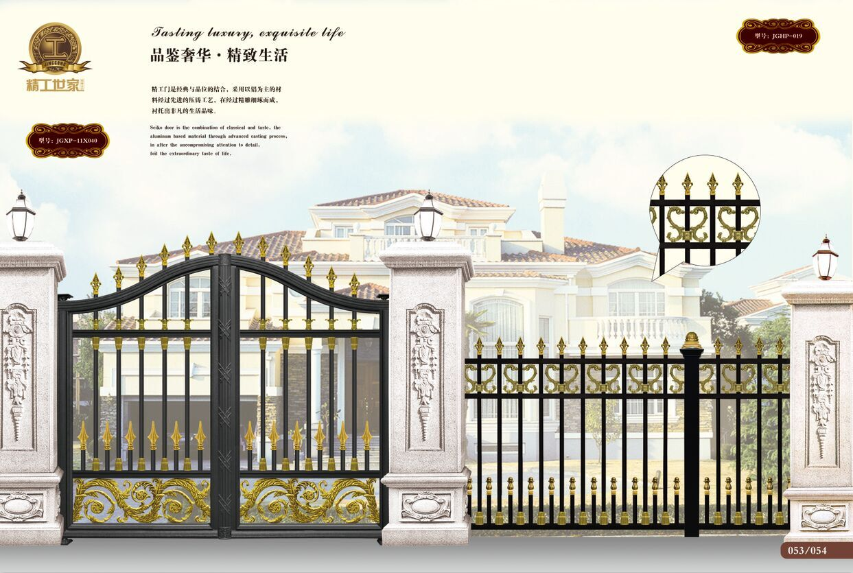 青岛铁艺围栏 青岛欧式铁艺大门