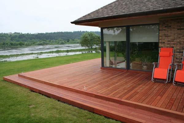 广西景区防腐木栈道安装 创新型的户外防腐木地板尽在创之景木业