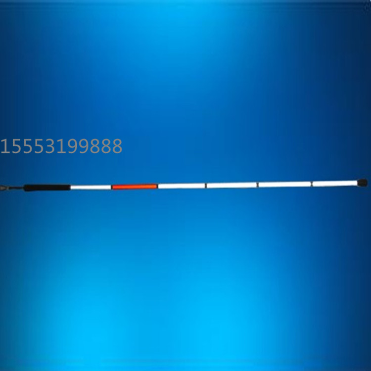 厂家直销折叠式铝合金七折导盲杖/7节盲人手杖反光盲棍