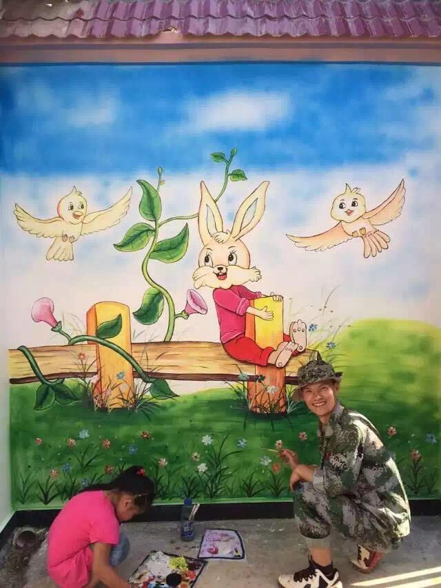 迅捷的墙画设计出自云南亨立沃森:云南昆明墙画