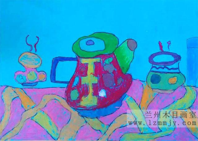 茶具写生图片