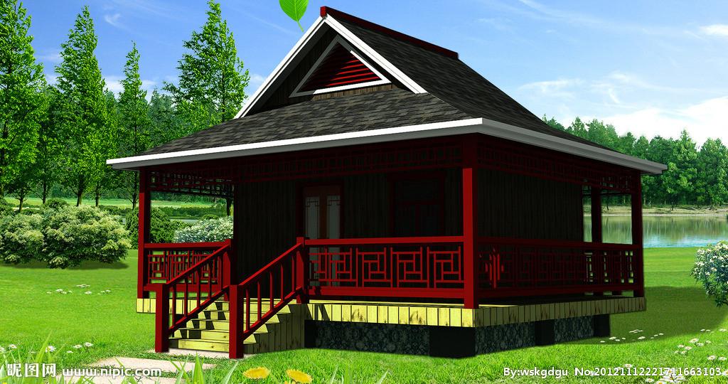 中式木屋建造图解