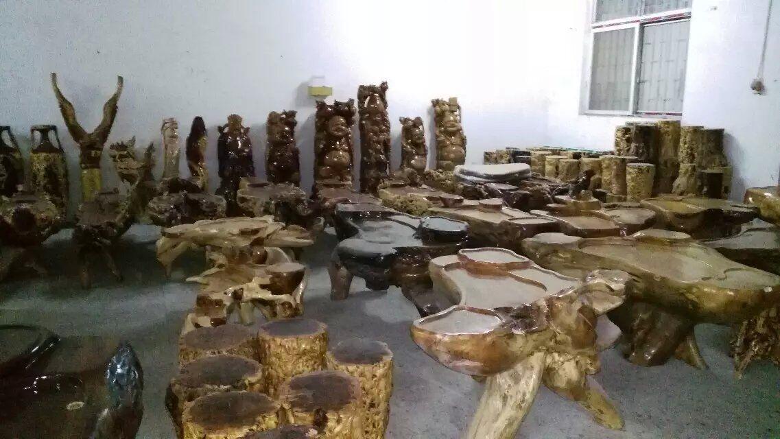 许昌枣木茶台加工-买专业的枣木茶台-就到宏达根艺雕刻中心
