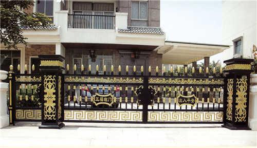 潍坊地区品质好的铝艺大门 山东铸铝大门