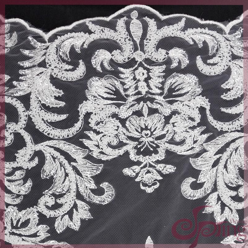 要买优质的纯色刺绣花边,就到百华花边科技公司——镂空蕾丝布料厂家