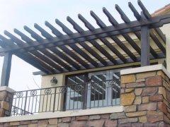 防腐木花架的特征和建筑形式