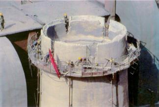 30米砖混烟囱裂缝加固公司
