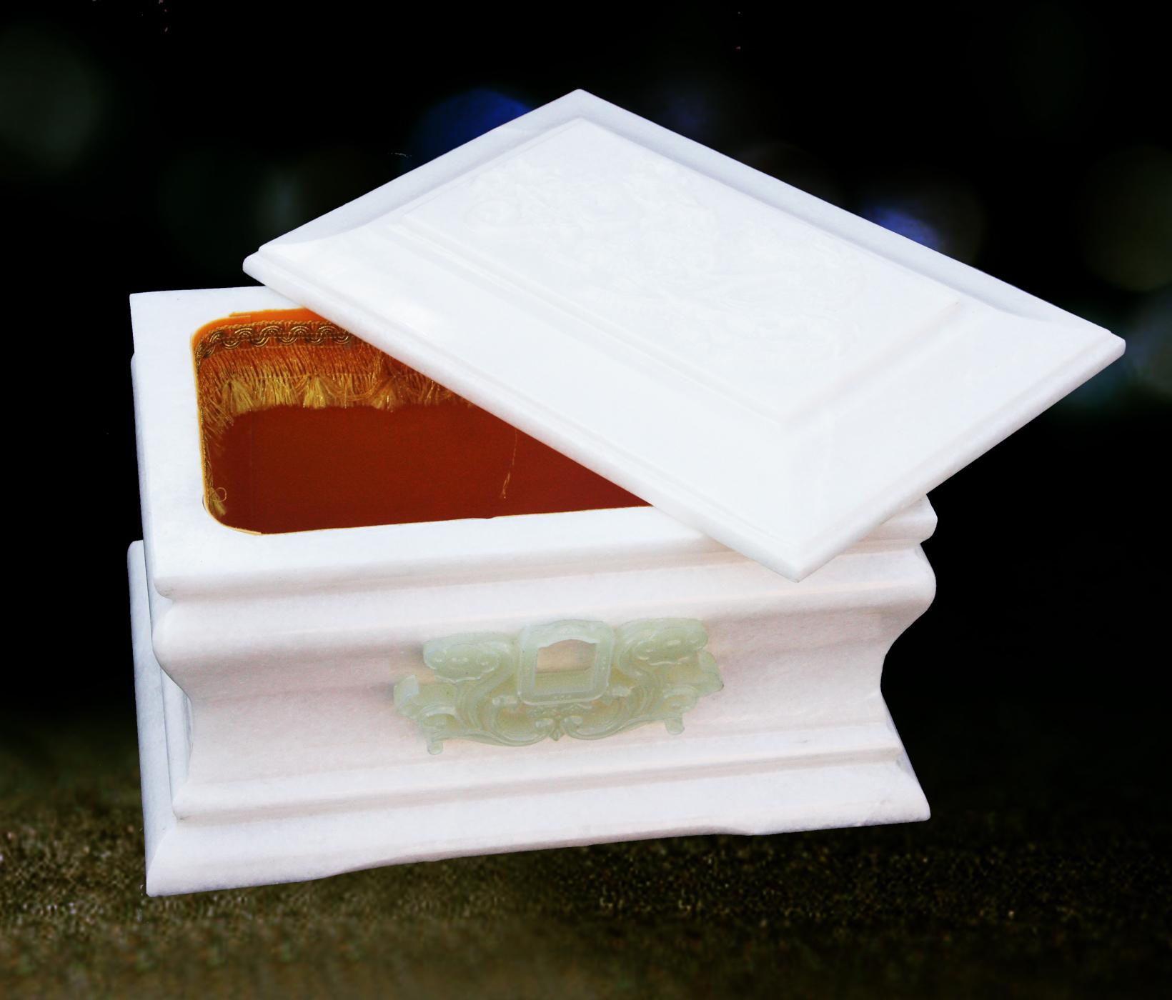 汉白玉骨灰盒 汉白玉骨灰罐 骨灰盒行业老品牌 超低价批发