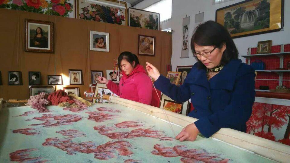 山东国宝绒绣非物质文化遗产莫氏绒绣