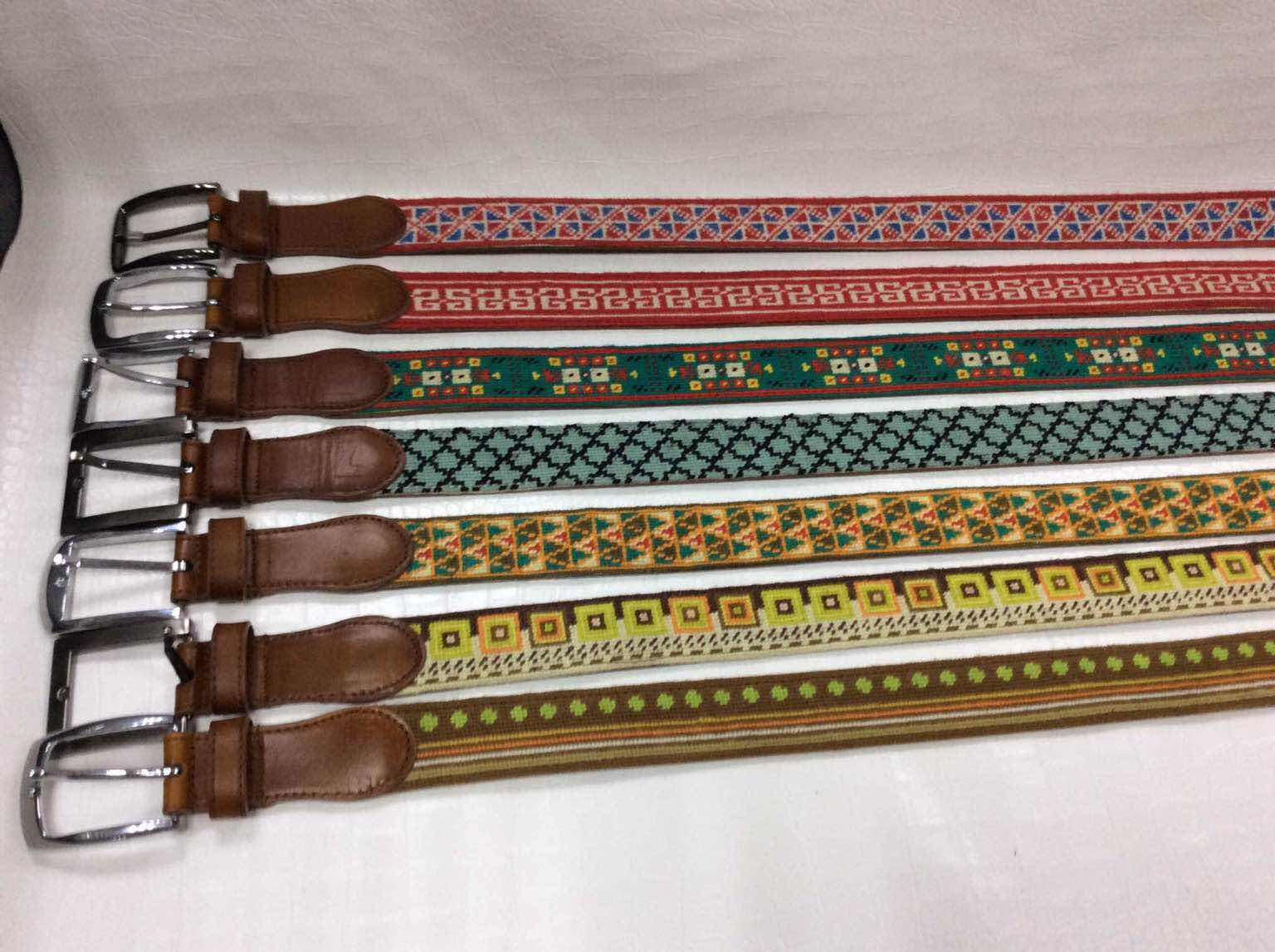 上海宗荣艺家绒绣专业生产绒绣腰带外贸手工艺品